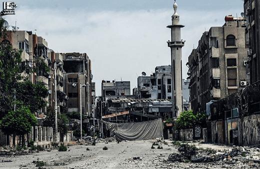 Inside Yarmouk Palestinian Refugee Camp