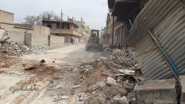 Clearing Kobane's Streets Underway